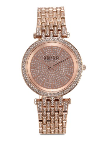 SO&CO red and gold Madison 5527 Watch FD346ACC010C33GS_1