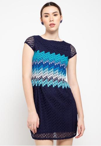 CHANIRA LA PAREZZA blue and navy Halette Dress 2C46BAAD52690CGS_1