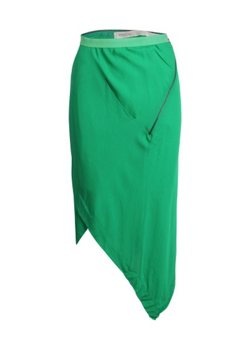 Willow 綠色 二手 willow 不對稱綠色半身裙 7A28FAA502E3E5GS_1