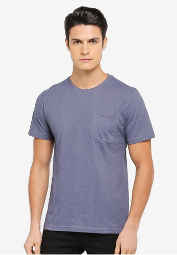 ZALORA blue Washed Pocket Tee 31360AA9D33C53GS_1