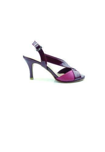 SHINE red Slingback Strapy Heels SH554SH0GQ42SG_1