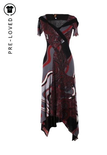 Jean Paul Gaultier black Pre-Loved jean paul gaultier Black And Red Long Dress With Short Sleeves 9AF41AA3374C46GS_1