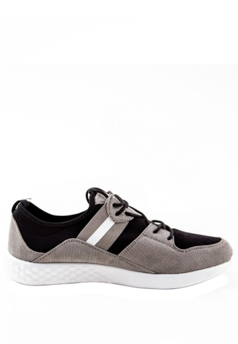 Otto grey Suede Trainers with Side Stripes BFF92SHF79ED35GS_1