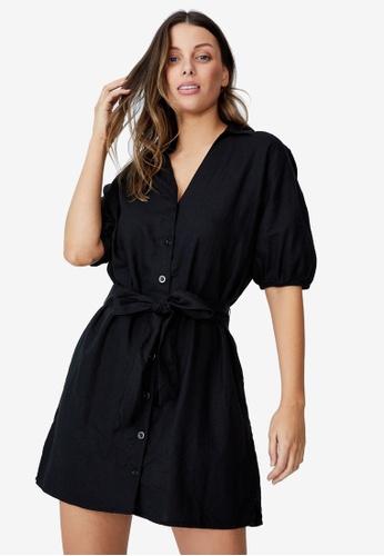 Cotton On black Woven Fern Shirt Dress D271DAA7144C43GS_1