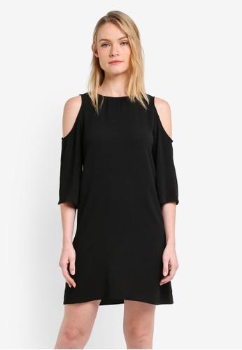 ZALORA black Essential Cold Shoulder Shift Dress 1B8A1ZZ5FF2B3DGS_1