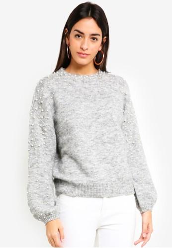 Vero Moda grey Stacia Pearl Pullover FD695AAF2A1768GS_1