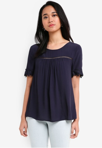 ONLY navy Holly 2/4 Top C0336AA3D3B106GS_1