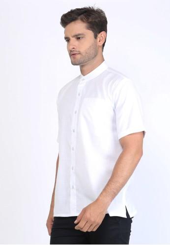 Allev white AFIF Shirt - Putih List Biru 84F61AAF7CB32AGS_1