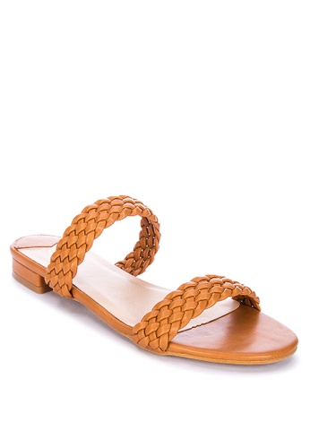 ABOUT A GIRL brown Braided Flat Sandals 562F9SH6B3D214GS_1