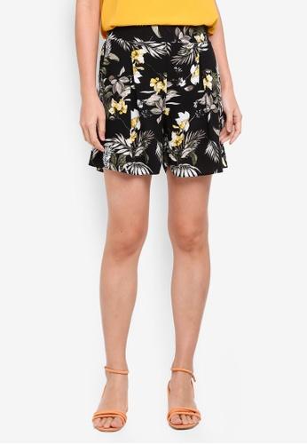 Dorothy Perkins yellow Petite Safari Floral Shorts 678F2AA7A108DEGS_1