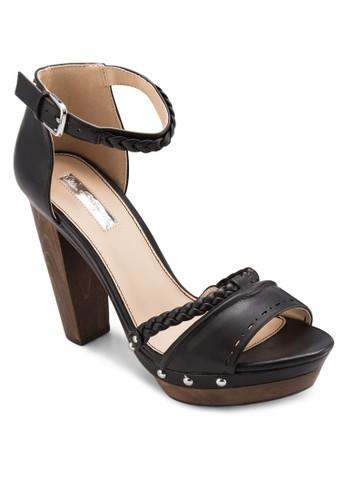 Fleur 厚底木根高跟涼鞋, 女esprit服飾鞋, 鞋