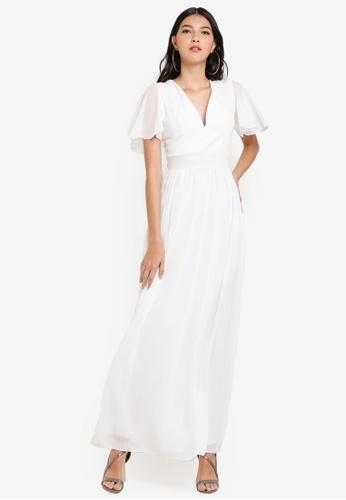 90374f05e590 WALG white Chiffon Sleeve Maxi Dress EDBA5AAC308D54GS 1