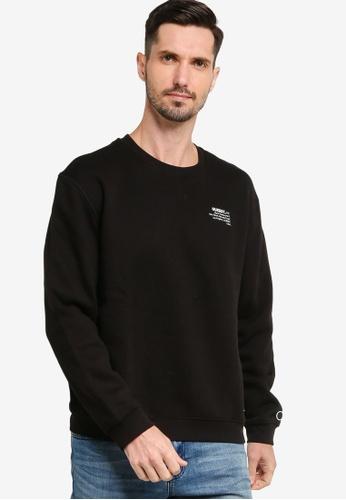 GUESS 黑色 Clay Crew Neck Fleece Sweatshirt 8267EAAF2C15C2GS_1