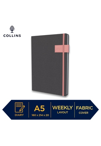 Collins pink Collins GAIA ─ 2021 Calendar Year Diary ─ Pink ─ A5 Week to View 5C5F4HLCA27D27GS_1
