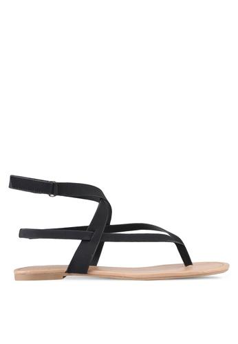 Call It Spring black Husien Sandals 88864SHB0B0FF9GS_1