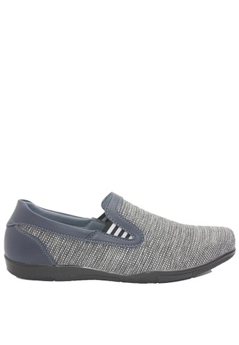Dr. Kevin grey Dr. Kevin Men Casual Shoes Slip On 13359 - Grey/Navy 089E0SH2626EDBGS_1