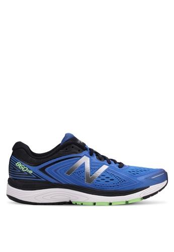 New Balance black and blue 860 NBX Performance Running Shoes NE323SH0RXN4MY_1