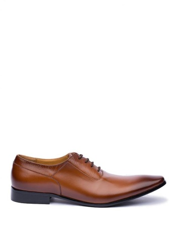 Kings Collection brown Grayson Leather Shoes 9F8E0SH2B39A24GS_1