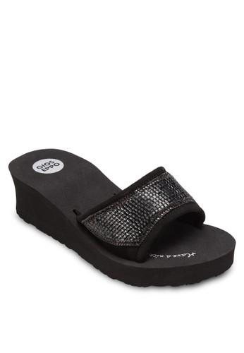 Bay 閃鑽中楔形拖鞋、 女鞋、 拖鞋GioseppoBay閃鑽中楔形拖鞋最新折價