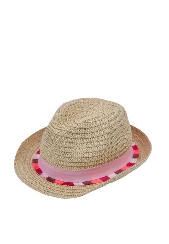 Du Pareil Au Même (DPAM) brown Straw Hat E4EBCKC7C5F489GS_1