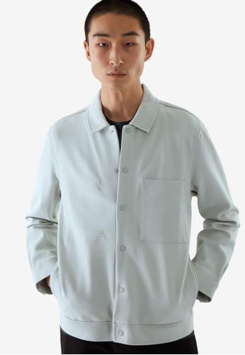 Cos blue Jersey Twill Shirt Jacket 12CAAAA62CB886GS_1