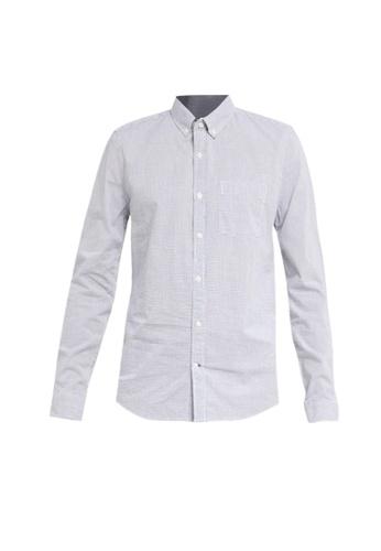 GAP blue Slim Poplin Basics Shirt C40C3AAB85A3B5GS_1