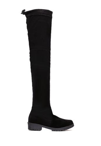 Twenty Eight Shoes black Low Heel Over Knee Boot VB7958 A27C8SH733C8B9GS_1