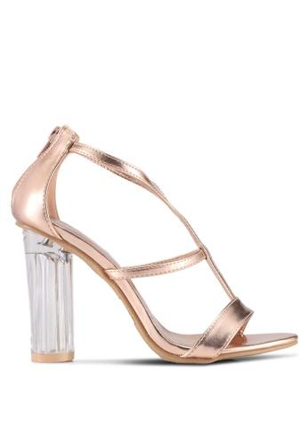 DMK beige Glass Sandal Heels C96EASH00D471CGS_1