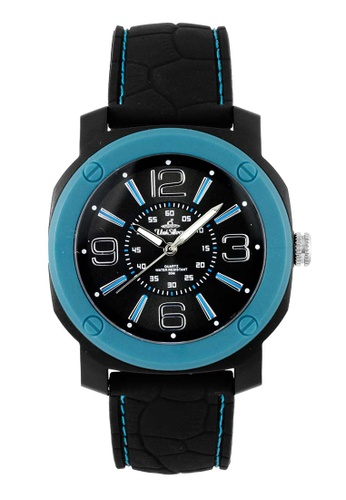 UniSilver TIME black and blue Analog Rubber Watch A15FCACD0ED15DGS_1