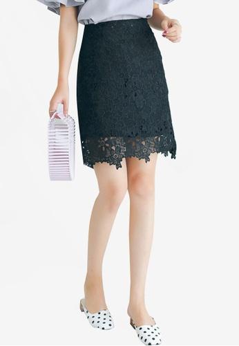 Shopsfashion black Lace Mini Skirt 229D4AA2B0EB32GS_1