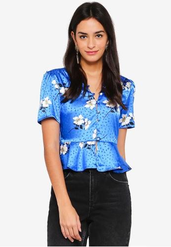 94650bfb056760 Buy TOPSHOP Jacquard Floral Blouse Online | ZALORA Malaysia