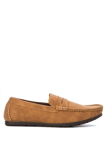 H2Ocean brown Mens Casual Loafers H2527SH0J9TRPH_1