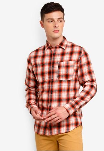 Jack & Jones red and multi Ethan Worker Shirt 4A7B4AA2EEA6BBGS_1
