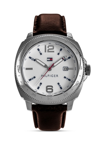 Tommy Hilfiger Watches brown Men's Leather Strap Watch F328CACCB3F814GS_1