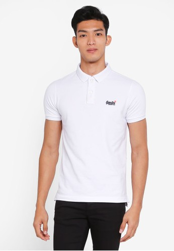 Superdry white Classic Short Sleeve Pique Polo Shirt F2041AAEE84A1EGS_1