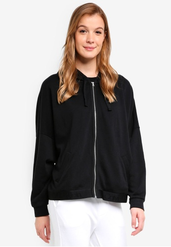 Calvin Klein black Full Zip Hoodie - Calvin Klein Underwear 27858AA14089C5GS_1