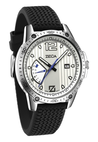 ZECA grey and silver Genoa Edition Male Analogue ZE260AC44SIPSG_1