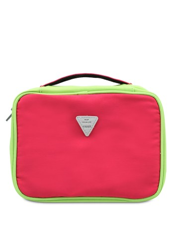 Bagstationz pink Colour Block Lightweight Water Resistant Travel Toiletries Pouch F2A35ACF6086AFGS_1