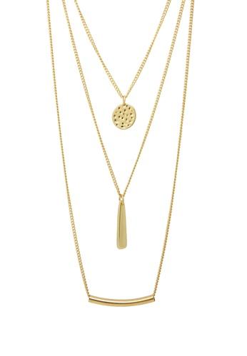 Jaysa Collection gold Elegant Multi-layer Golden Necklace JA875AC0F48DSG_1