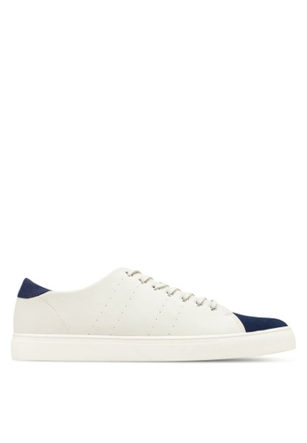 ZALORA white Faux Leather Peforated Sneakers AABSYZZ0000031GS_1