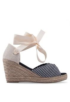 a8930782 Vero Moda black and multi Nicole Wedge Sandals EB2B6SH3CE5A58GS_1