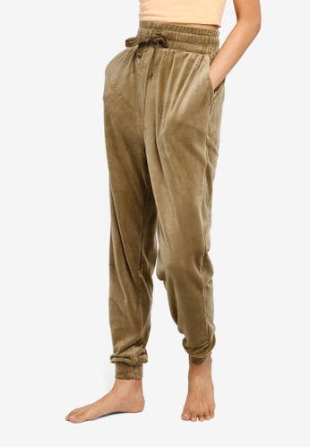 Cotton On Body green Luxe Cuffed Pants 1C79EAAB633BFBGS_1