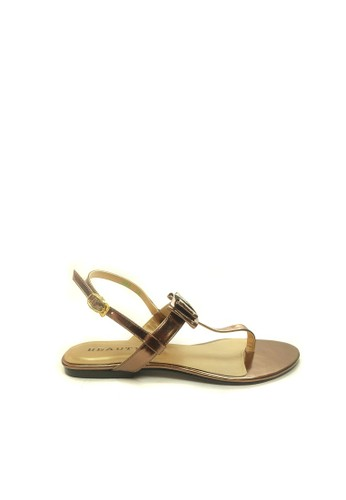 Beauty Shoes brown Beauty Shoes 999 Flat Brown CC342SHFF2261BGS_1