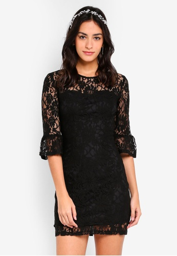 ZALORA black Bridesmaid Sweetheart Neck Lace Dress C79AAAAE30229CGS_1