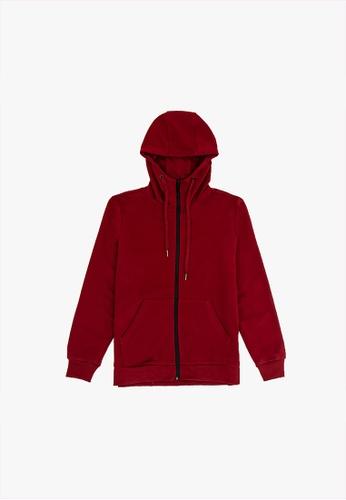 FOREST red Forest Cotton Terry Jacket Men Jacket - Jaket Lelaki - 30397 - 56Maroon 37CEEAA4B65B87GS_1