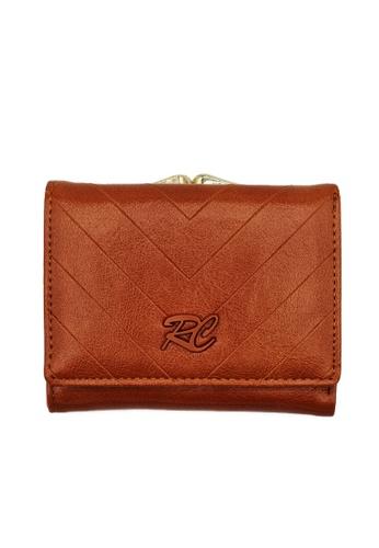 RUCINI brown Rucini Ladies Short Tri-Fold Kiss Lock Wallet AF139AC23FA755GS_1