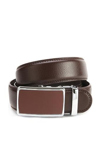Twenty Eight Shoes brown VANSA Fashion Leather Automatic Buckle Belt  VAM-Bt013 B3D85ACD678F2DGS_1