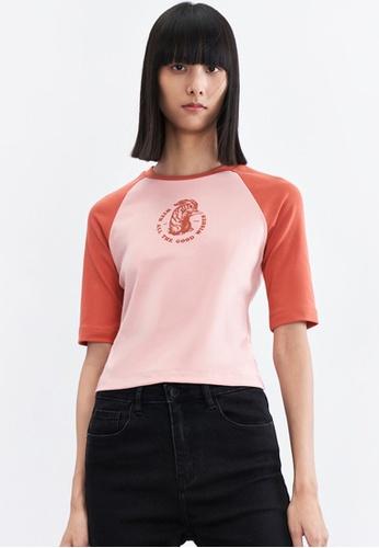URBAN REVIVO pink Casual T-Shirt 80612AA93AB766GS_1