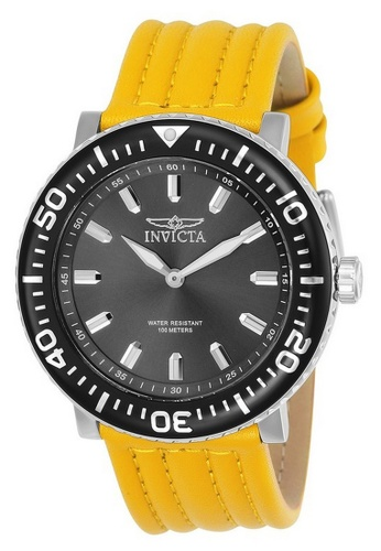 INVICTA yellow and silver Invicta I-Force Men 48mm Case Stainless Steel Stainless Steel Strap Stainless Steel Dial Quartz Watch 24041 w/ Yellow Impact Case IN968AC0GO1CSG_1