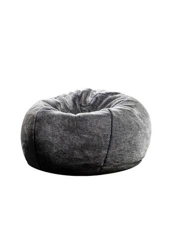 SoftRock DIONYSUS – Synthetic Fur Shag Pouffe SoftRock bean bag (Silverback) 6B37CHL9BEEFF4GS_1